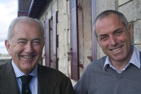 Alfred Tesseron and Jean-Michel Comme with plenty to smile about in 2010