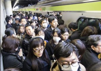 Monday Morning Rush Hour in Tokyo