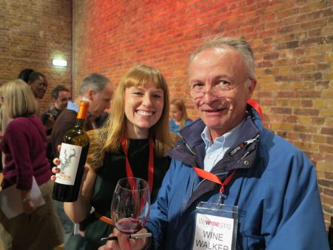 The Wine Gang's own Jane Parkinson with California zin and winewalking friend