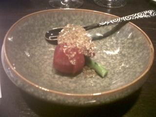 marinated tomato with Tosazu jelly