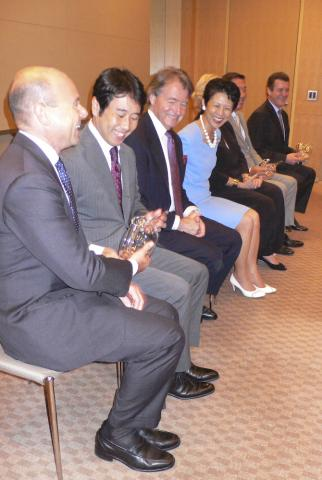 Princess Takamado with Steven Spurrier and award winners at the JWC